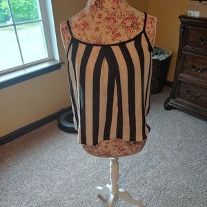 Charlotte Russe striped cami/shell